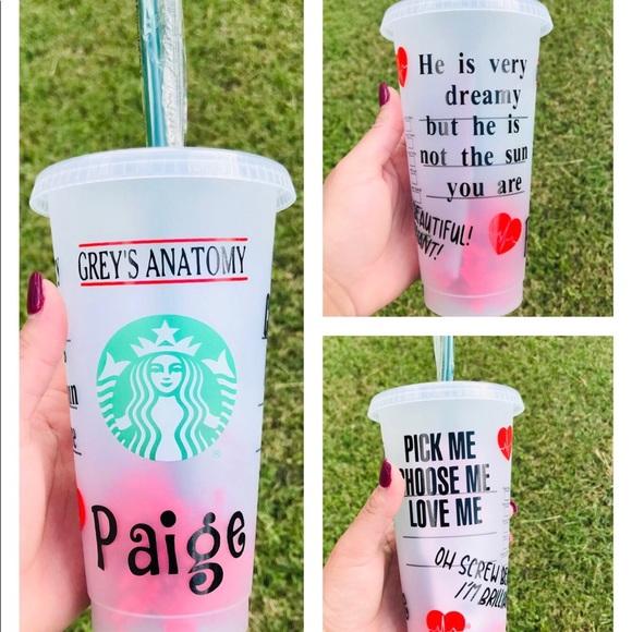 Grey's Anatomy Starbucks Cold Cup